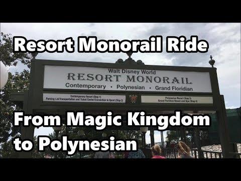 Resort Monorail   Relaxing Trip from Magic Kingdom to Polynesian Resort in 4K   Walt Disney World