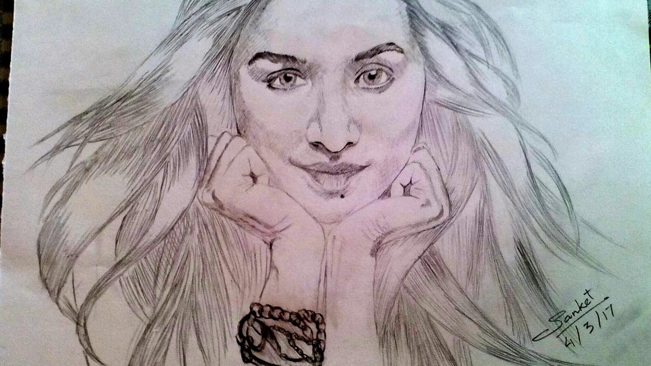 Shraddha Kapooru0026#39;s Sketch - YouTube