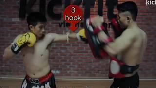 Combination Muay Thai Lesson 4 | Tuyệt Chiêu Tập tự vệ tại nhà|