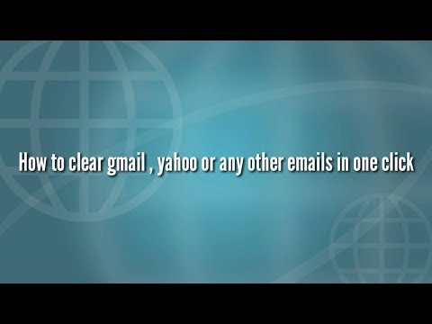 How to clean inbox of gmail,yahoo or any emails in one click