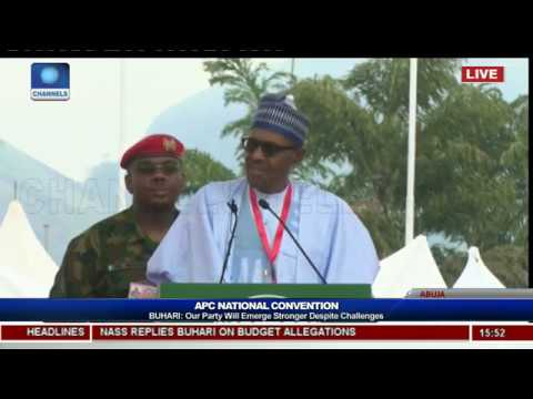APC Nat'l Convention: Our Party Will Emerge Stronger Despite Challenges-- Buhari