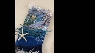 Mixed Media Art Piece: Water Element