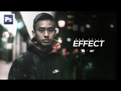 How to Create an RGB Split/Glitch Effect in Photoshop! (2017 Tutorial)