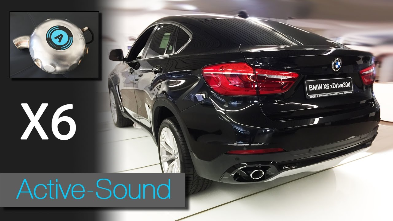Active Sound Bmw X6 F16 Xdrive 30d 40d Und M50d Diesel Youtube