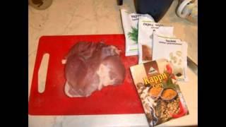 Холодные закуски мясные:Вяленая свинина к пиву
