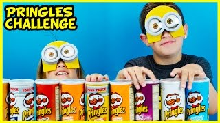 Pringles Challenge With Minions Mask And Blind Bags! Potato Chip Tasting Contest By Plp Tv