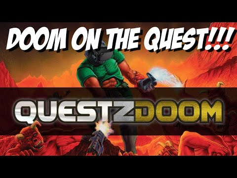 Doom on the oculus quest gameplay | How to install questzdoom on oculus quest
