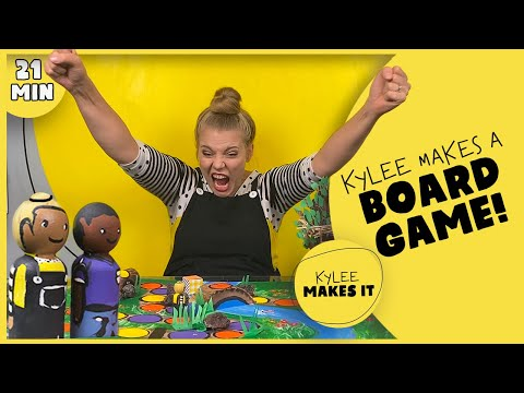 Kylee Makes a Board Game   DIY Board Game Idea for Bored Kids! Create Your Own Activity & Adventure!