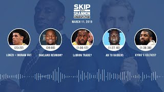 UNDISPUTED Audio Podcast (3.11.19) with Skip Bayless, Shannon Sharpe & Jenny Taft | UNDISPUTED