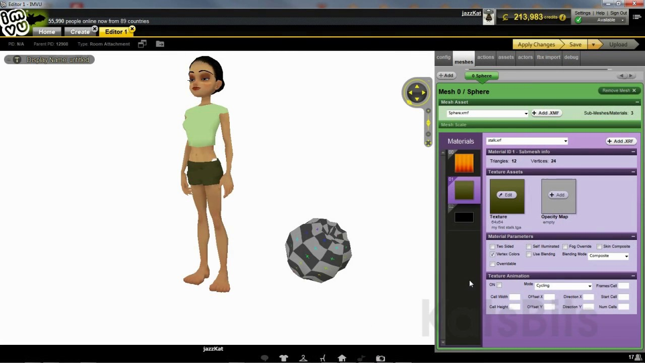Get started using Blender for IMVU : KatsBits TUTORIALS