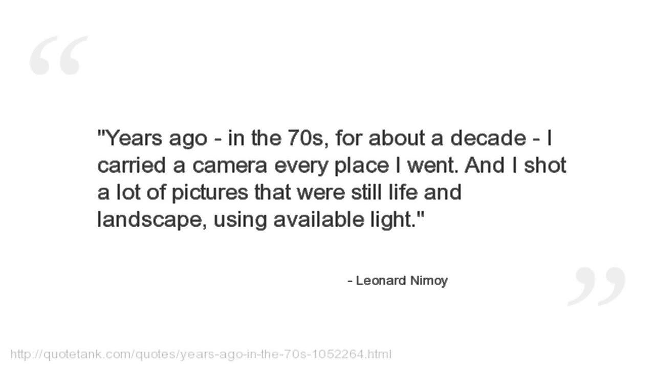 Leonard Nimoy Quotes Extraordinary Leonard Nimoy Quotes  Youtube