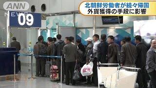 国連の制裁など影響か 北朝鮮の労働者が続々と帰国(17/10/25)