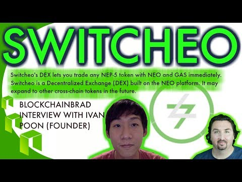 BlockchainBrad chats with Switcheo founder Ivan Poon about a DEX  built on the NEO platform.