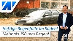 Heftige Sturzfluten im Süden vs. Dürre in Deutschland! Was ist blos mit dem Wetter los?