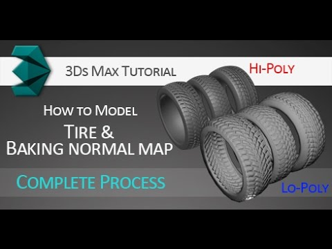 3Ds Max tutorial: Modeling tires and baking normal map for l