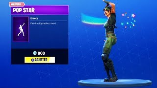 "NOUVELLE EMOTE ""POP STAR"" (STAR POWER EMOTE) ! FORTNITE Battle Royale BOUTIQUE DU 17 MAI"