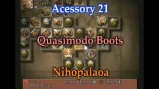 FFXII IZJS : Acessory 21 Quasimodo Boots and Nihopalaoa