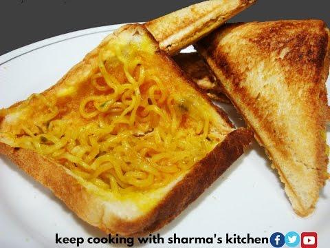 Maggi Sandwich   Kids Favorite Lunch Box Recipe   Crispy Sandwich Recipe  #EPISODE 69