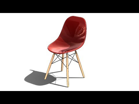 SolidWorks S Tutorial #314 : Eames DSW Chair (surfacing, 3D sketching, sheet metal)
