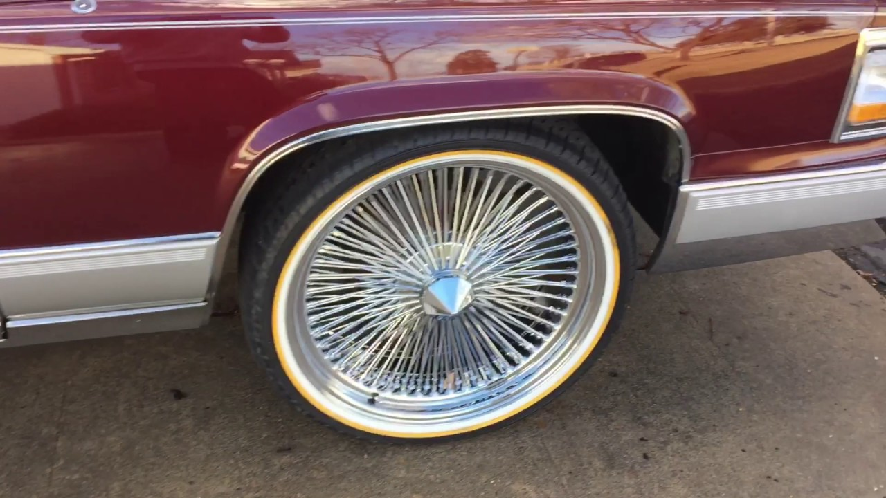 1992 Cadillac Brougham D Elegance 22 Wire Rims And Vogue Tyres Youtube