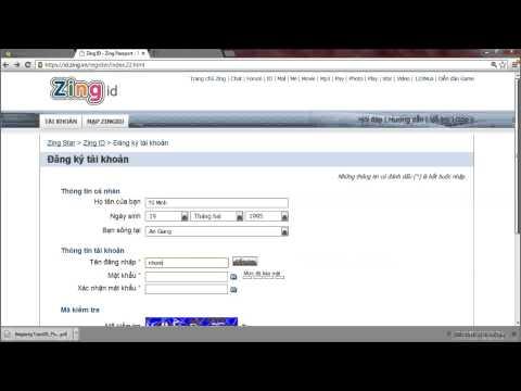 [M&M] Hướng dẫn đăng kí tài khoản Zing ID