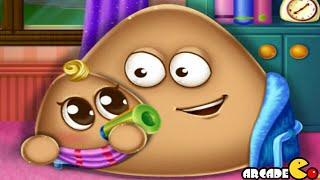 Pou Has a Baby Funny Pou Baby Caring Games