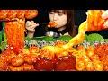 ASMR [요리&먹방] 새송이버섯 속에 체다치즈가 쏘옥~매콤한 양송이버섯과 메추리알, 팽이버섯, 주먹밥까지~ 먹방!!  えのき, チーズ·キノコ MUKBANG