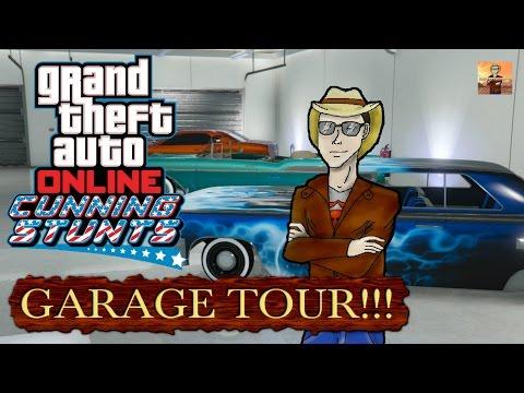 "GTA Online Garage Tour after the ""Cunning Stunts"" DLC!!!"