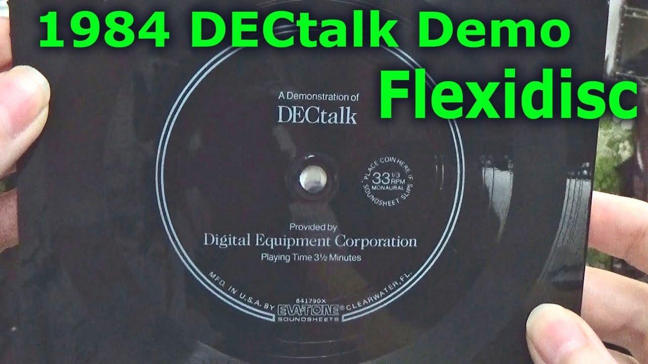 DECtalk Flexidisc Demo 1984 - Thủ thuật máy tính - Chia sẽ kinh