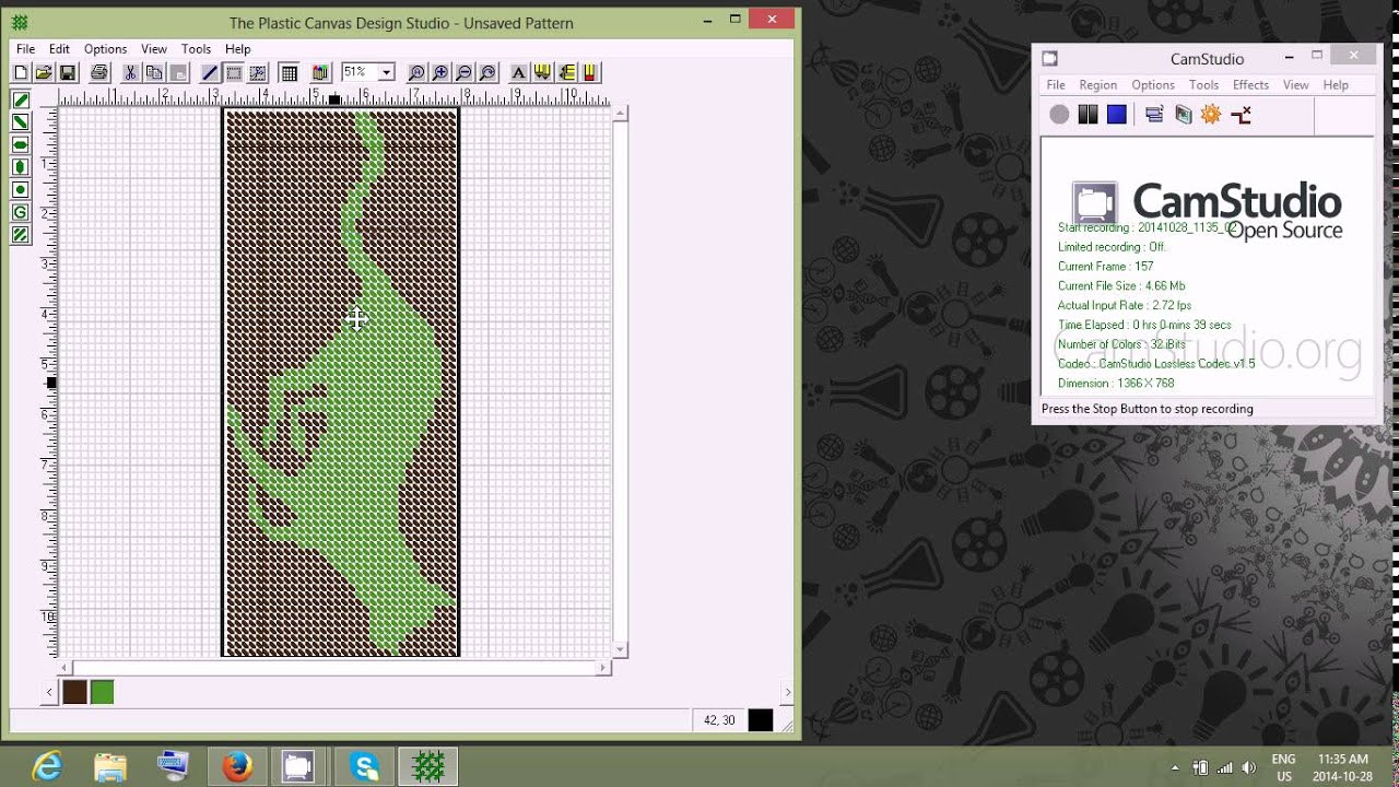 Rotating A Pattern In Plastic Canvas Design Studio Youtube