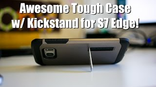 awesome tough case for galaxy s7 edge w kickstand spigen