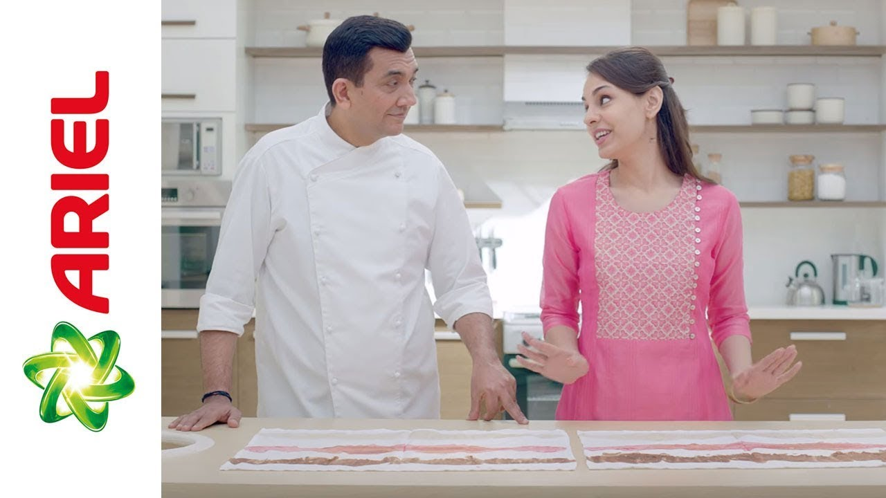 Sanjeev Kapoor Removes The Toughest Dried-In Stains with Ariel - YouTube