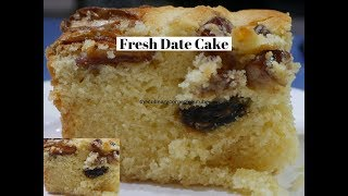 Fresh  Dates Dessert Cake