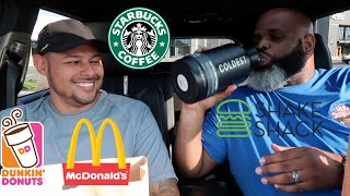 Letting The Person In Front of Me DECIDE What I Eat for 24 HOURS!! (Drive Thru Madness)