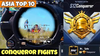 Asia #8 BEST Conqueror Fights | PUBG Mobile | Mr Spike