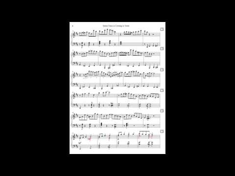 "Piano Sheet Music Jazz Arrangement of Christmas Song ""Santa Claus is Coming to Town"" by Jacob Koller"