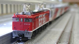 鉄道模型(Nゲージ):ポポンデッタ アリオ橋本 vol.17:EF651118+14系700番台 「スーパーエクスプレスレインボー」