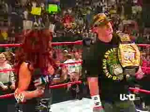 Melina and John Cena ring segment