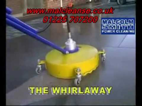 Whirl a way pressure washer flat surface cleaner youtube for Cement surface cleaner