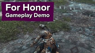 For Honor Gameplay Demo - E3 2015 Ubisoft Conference - Multiplayer Stabbing
