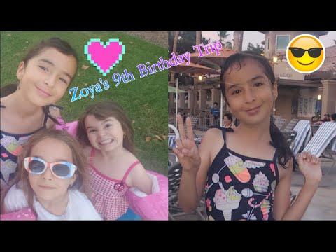 Zoya's 9th BIRTHDAY Trip Summer Vacation