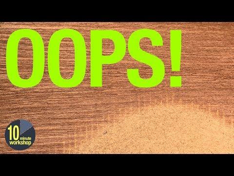 Sanding veneered MDF; how long before it goes wrong? [video # 346]
