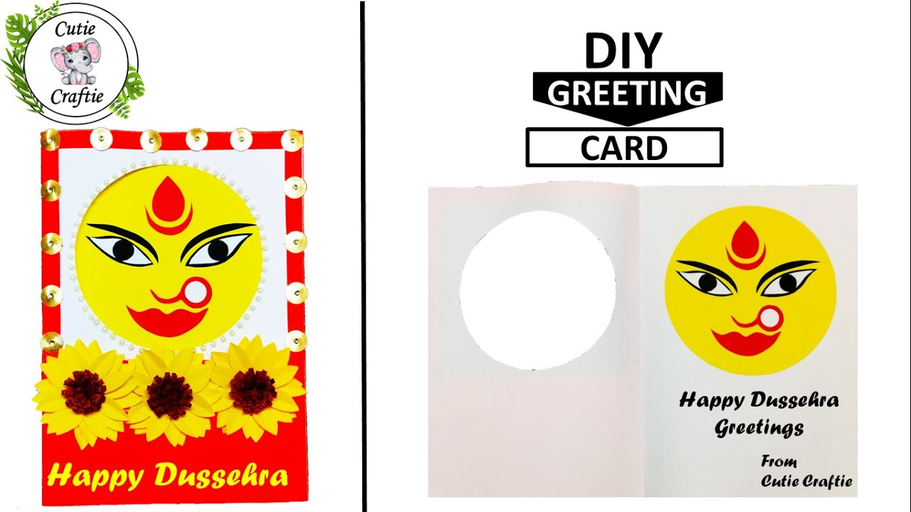 Diy Dussehra Greeting Card Happy Dussehra Personalised Gift Ideas Beautiful Arte Youtube