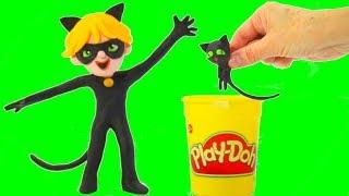 Cat Noir Play Doh Cartoons ❤ Superhero Babies & Frozen Elsa Cartoons For Kids ❤ Stop Motion Movies