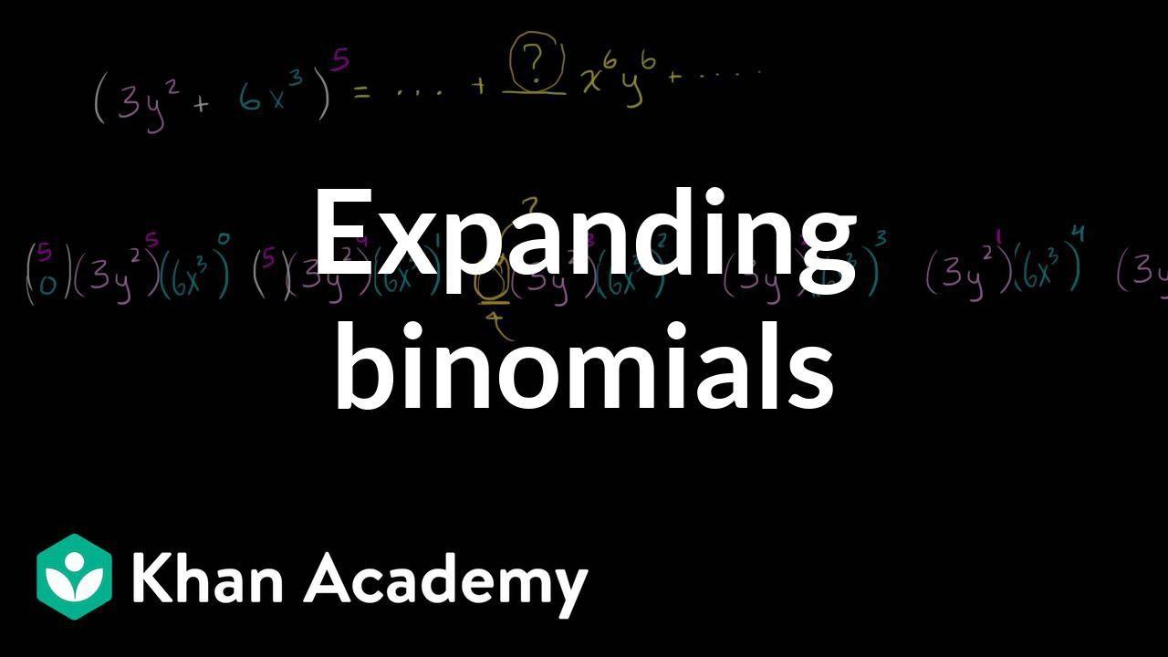 Determining coefficient in binomial expansion | Algebra II | Khan Academy