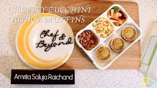 Cheesy Zucchini Quinoa Muffins | Zucchini Muffins Recipe | Healthy Tiffin Recipes By Amrita Raichand
