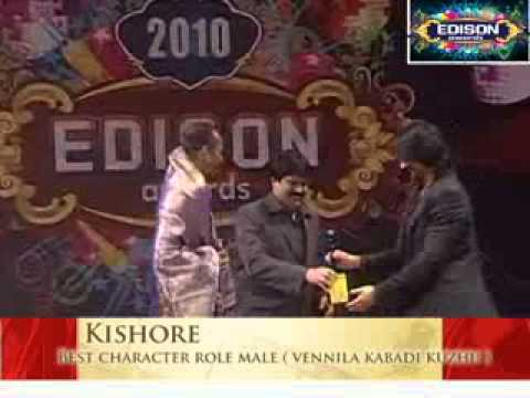 Kishore -Best Character Role Male (Vennila Kabadi Kuzhu)