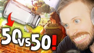 50 vs 50 MAKES ME SALTY!! • Fortnite Gameplay (NEW GAME MODE)
