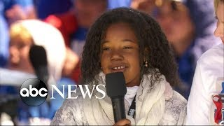 MLK's young granddaughter excites crowd at March for Our Lives