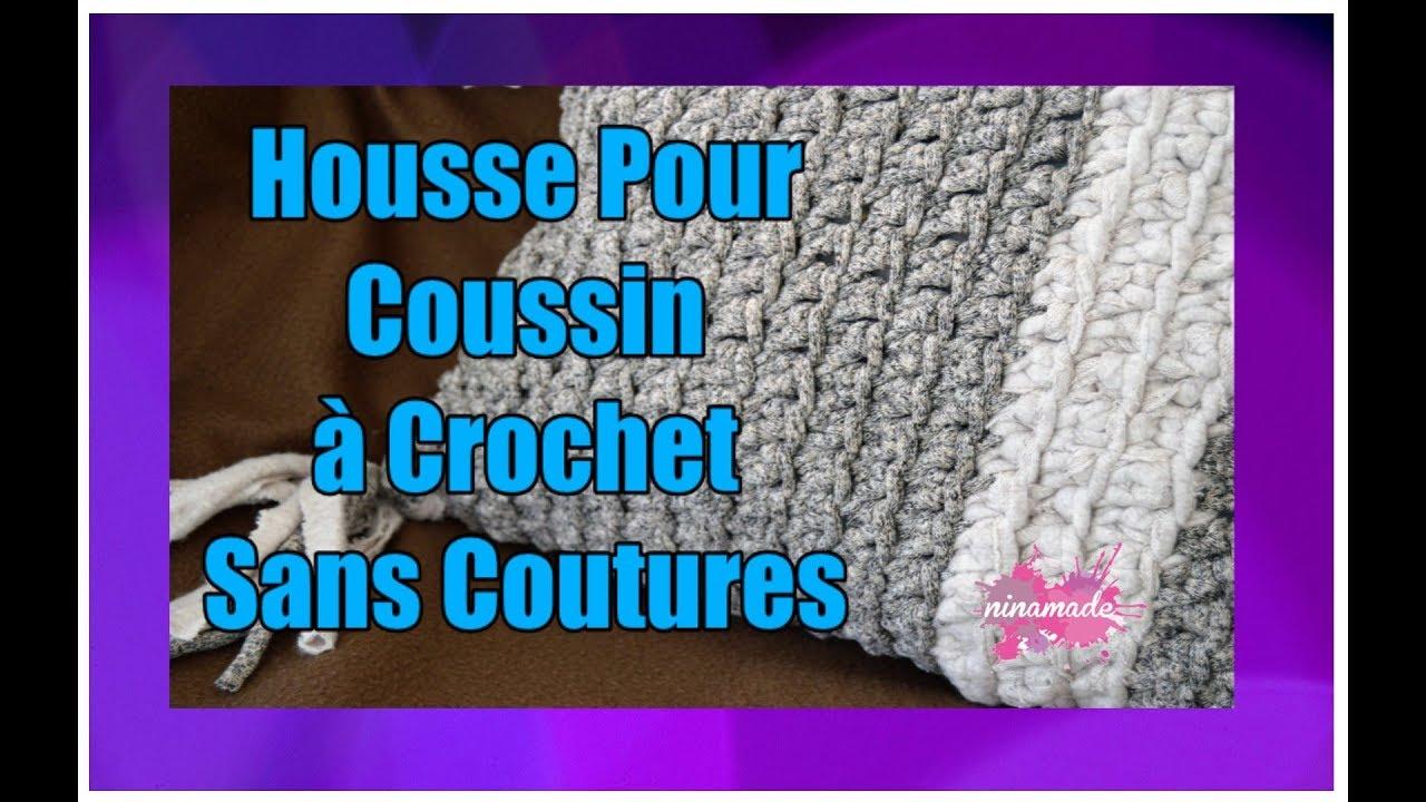 diy coussin au crochet sans coutures crochet cushion youtube. Black Bedroom Furniture Sets. Home Design Ideas